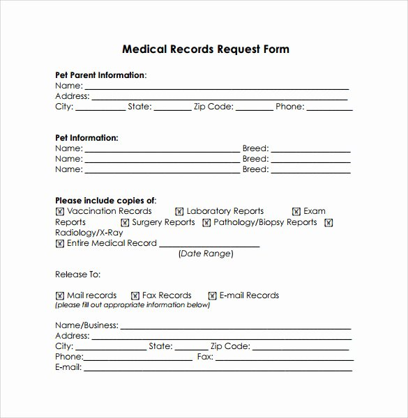 Sample Medical Records Unique Medical Records Release form 10 Free Samples Examples