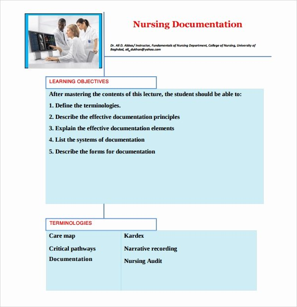 Sample Nurses Notes Narrative Luxury 8 Nursing Note Templates Pdf