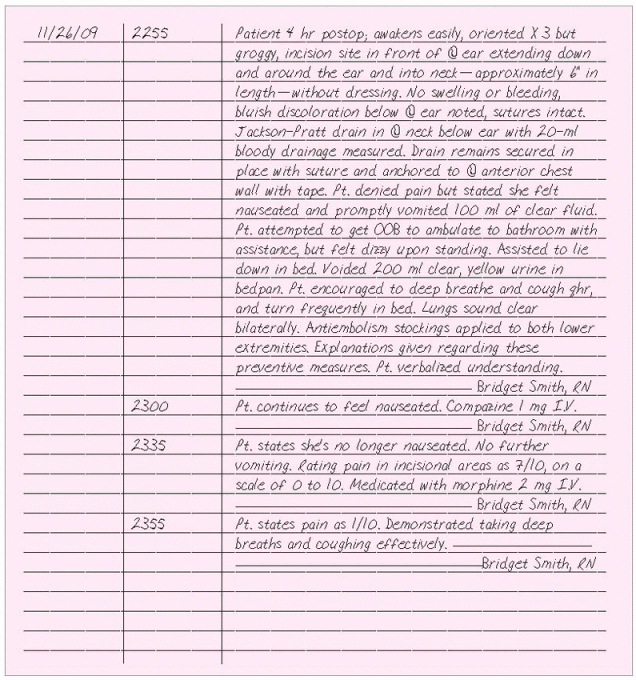 Sample Nurses Notes Narrative Unique Documentation Systems Pleting forms Fully and Concisely