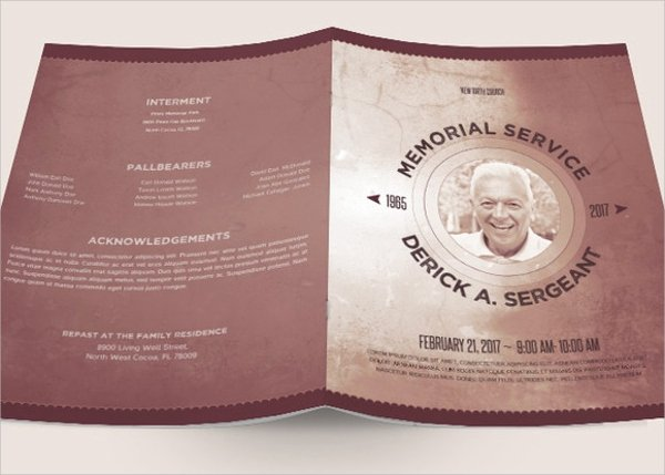 Sample Obituary for Dad Inspirational Sample Father Funeral Program 11 Documents In Pdf Psd