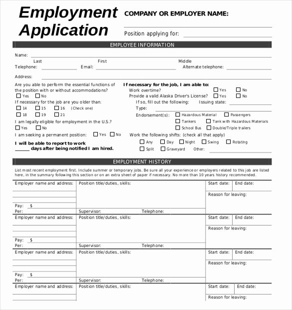 Sample Of A Job Application Luxury 15 Job Application Templates – Free Sample Example