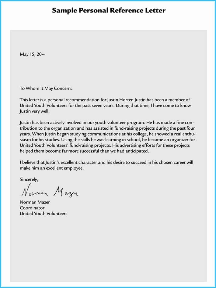 Sample Of A Referee Letter Best Of Volunteer Reference Letter 7 Best Samples to Write E