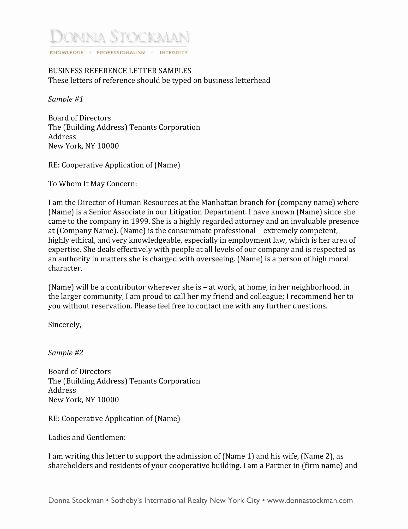 Sample Of A Referee Letter Inspirational 10 Business Reference Letter Examples Pdf