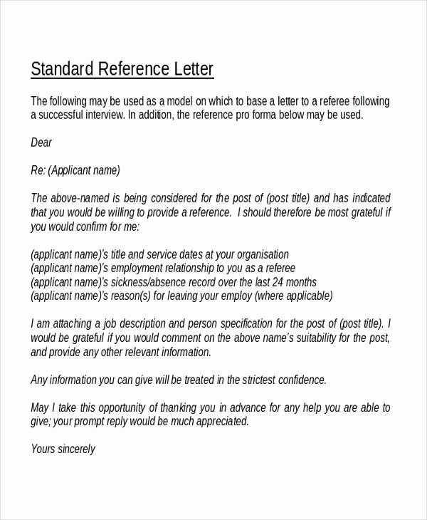 Sample Of A Referee Letter Luxury the Reference Letter