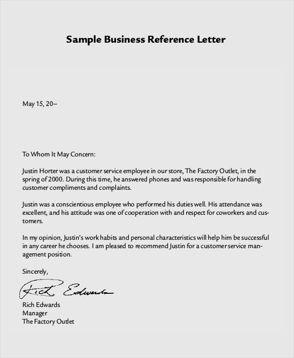 Sample Of A Referee Letter Unique 8 Reference Letter Samples Examples Templates