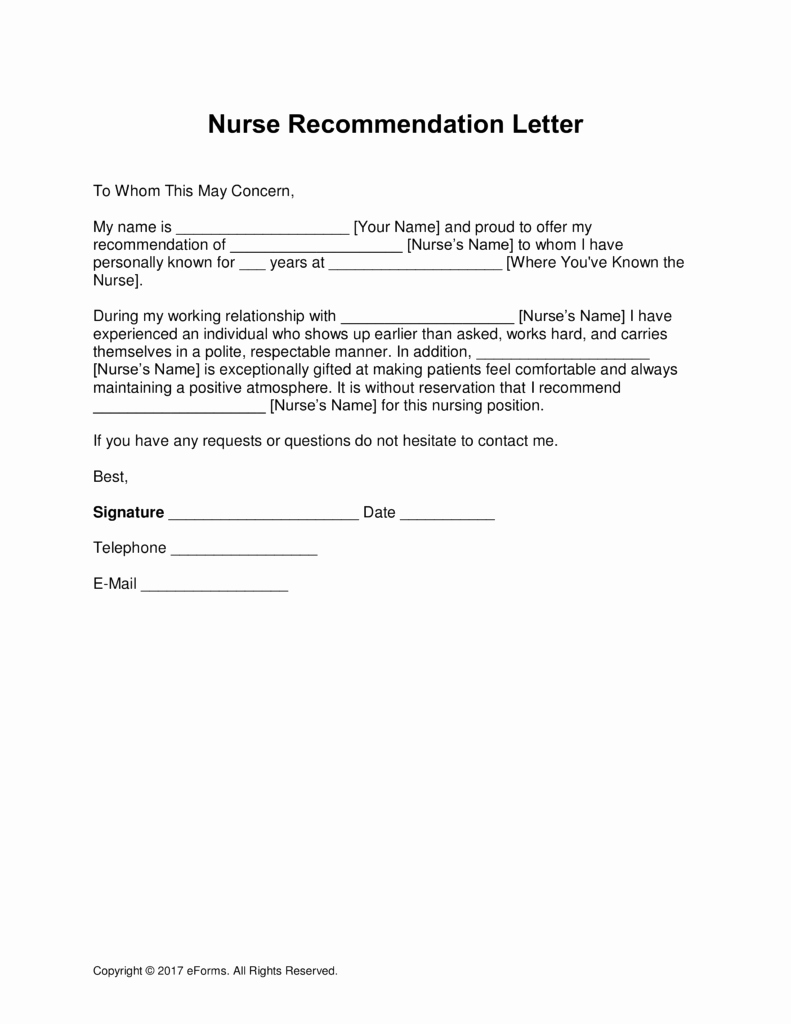 Sample Of A Reference Letter Best Of 5 Letter Of Re Mendation for Nursing School Template