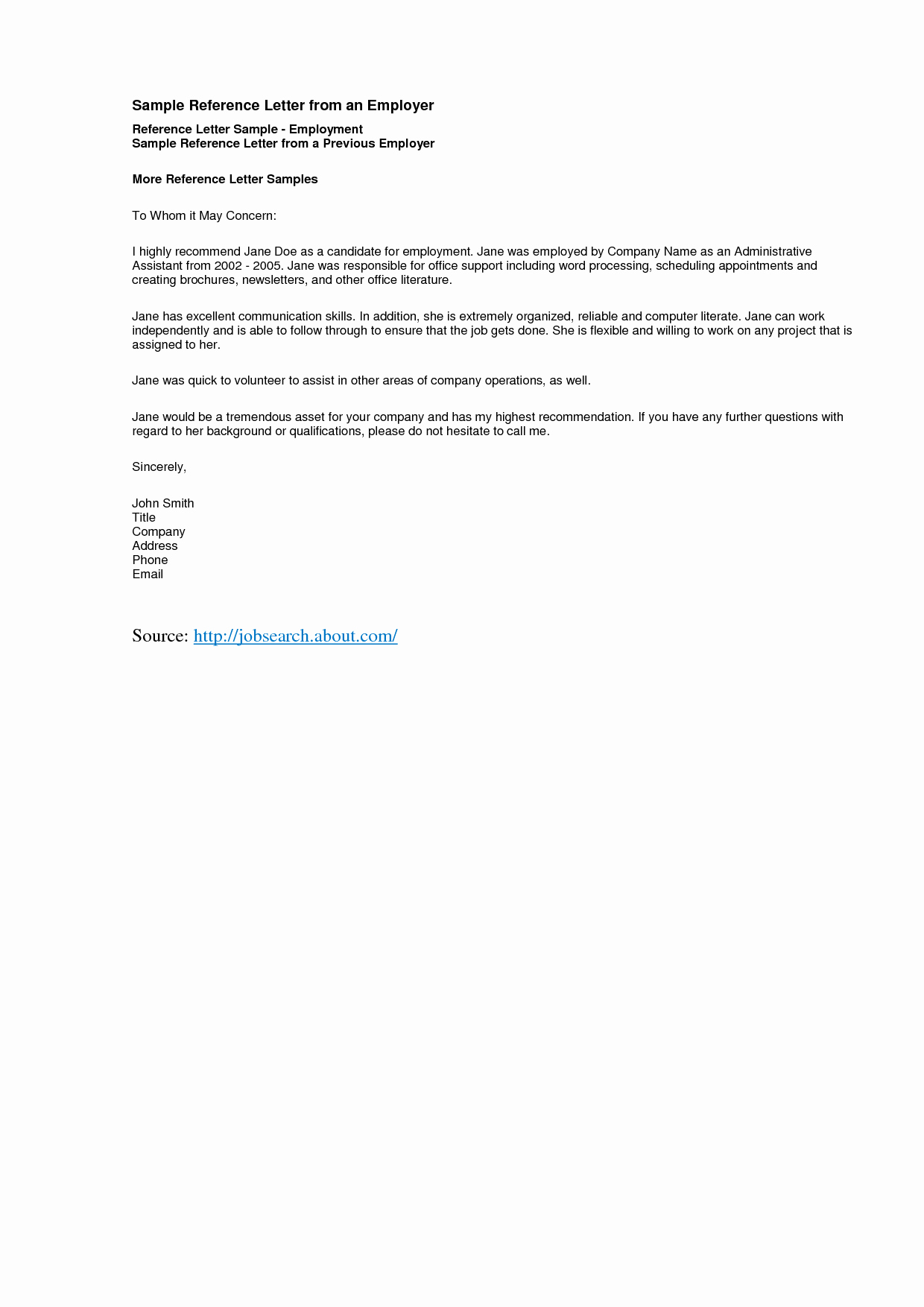 Sample Of A Reference Letter Luxury Reference Letter Template Best Templatepersonal