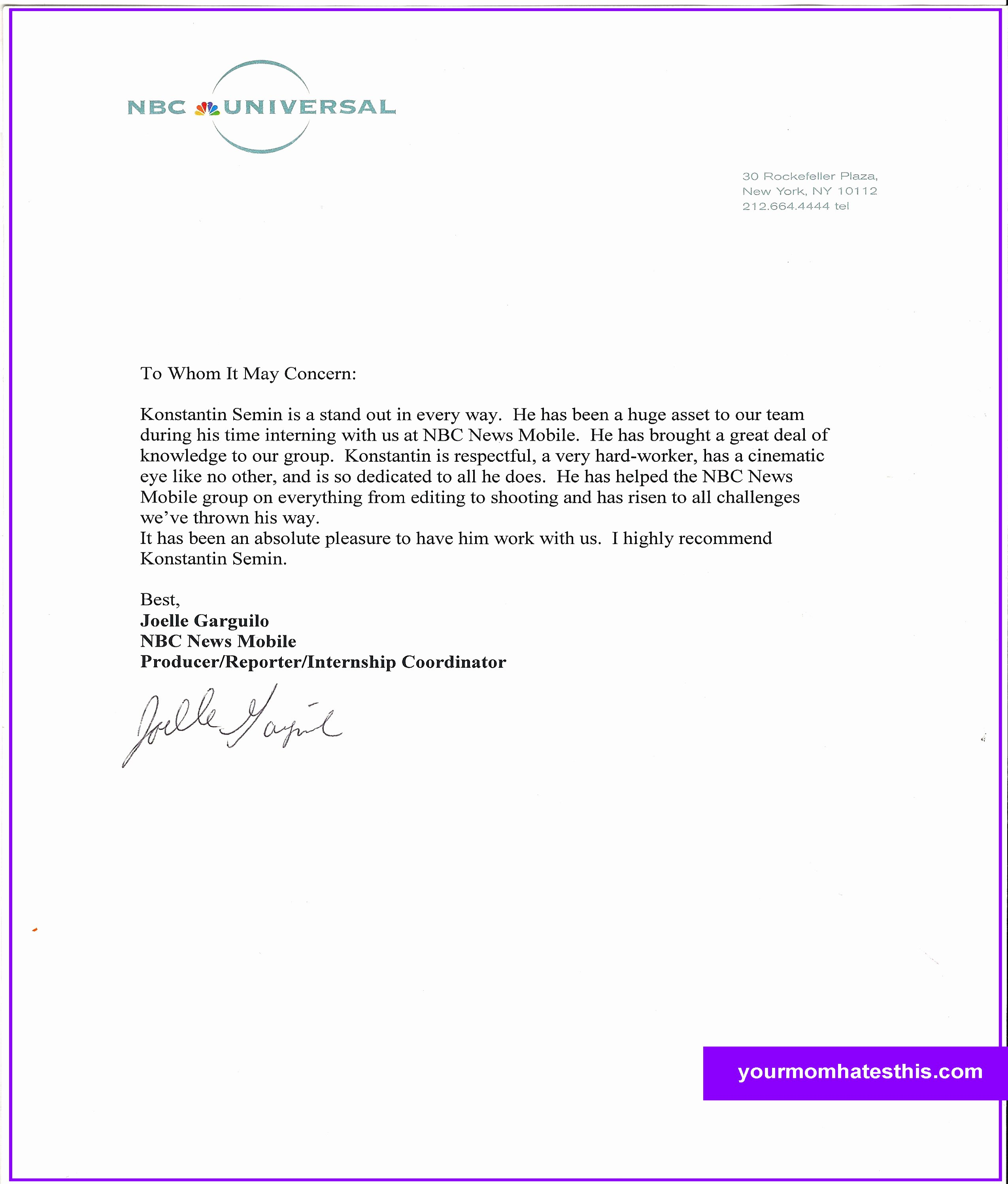 Sample Of A Reference Letter New Download Letter Of Re Mendation Samples