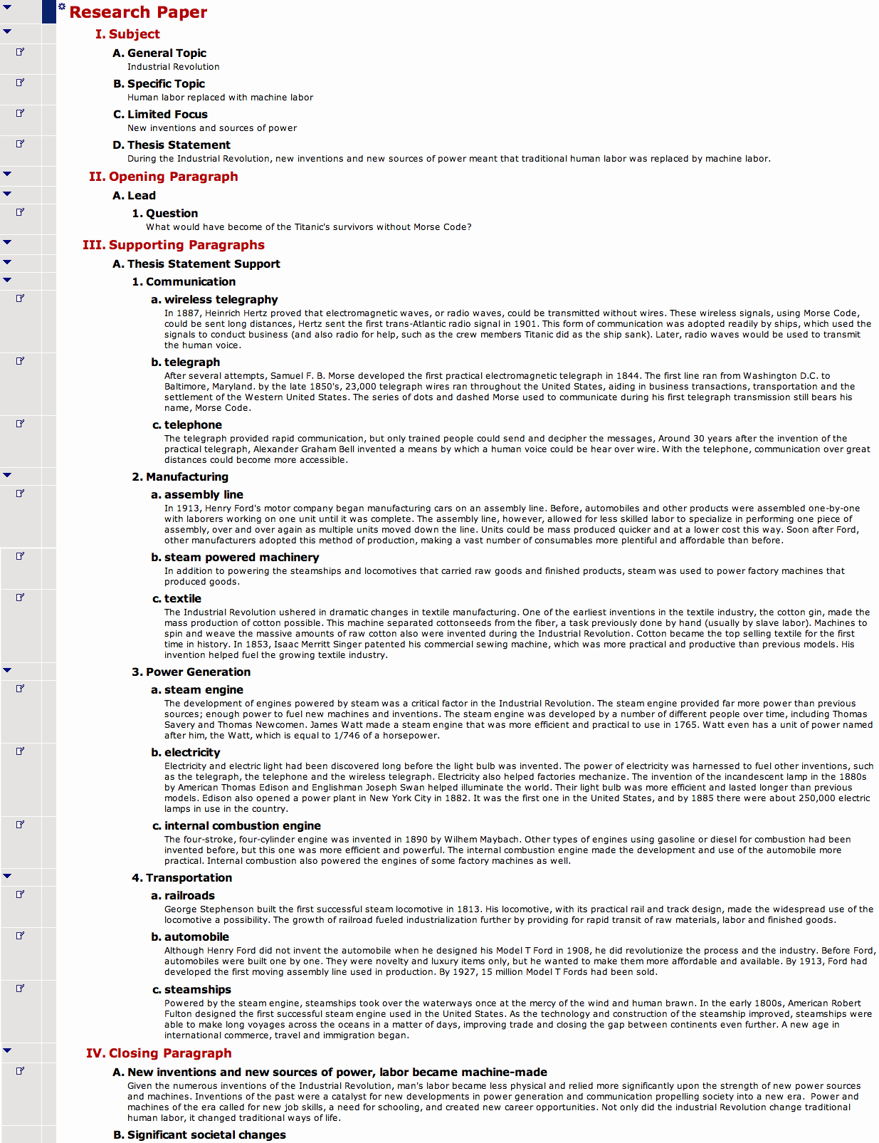Sample Of A Research Paper Elegant social Stu S Graphic organizer and Outline Examples From
