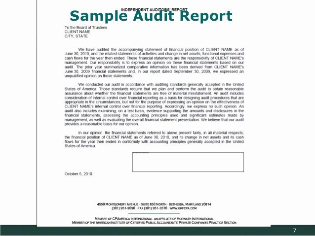 Sample Of Auditing Report Elegant An Introduction to Financial Management and Reporting
