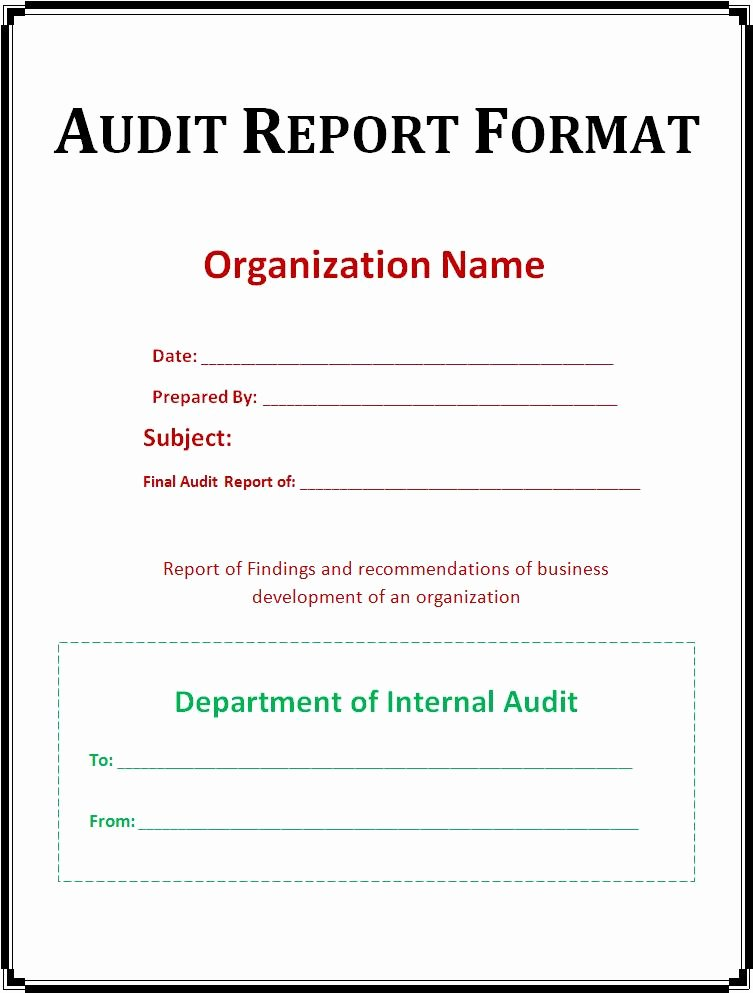 Sample Of Auditing Report Inspirational 37 Brilliant Audit Report format Examples Thogati