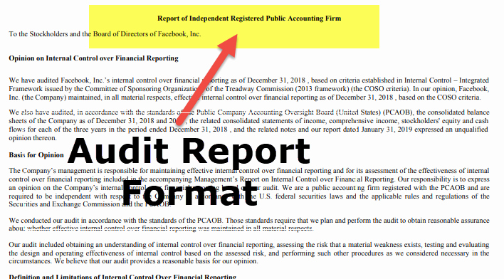 Sample Of Auditing Report Inspirational Audit Report format