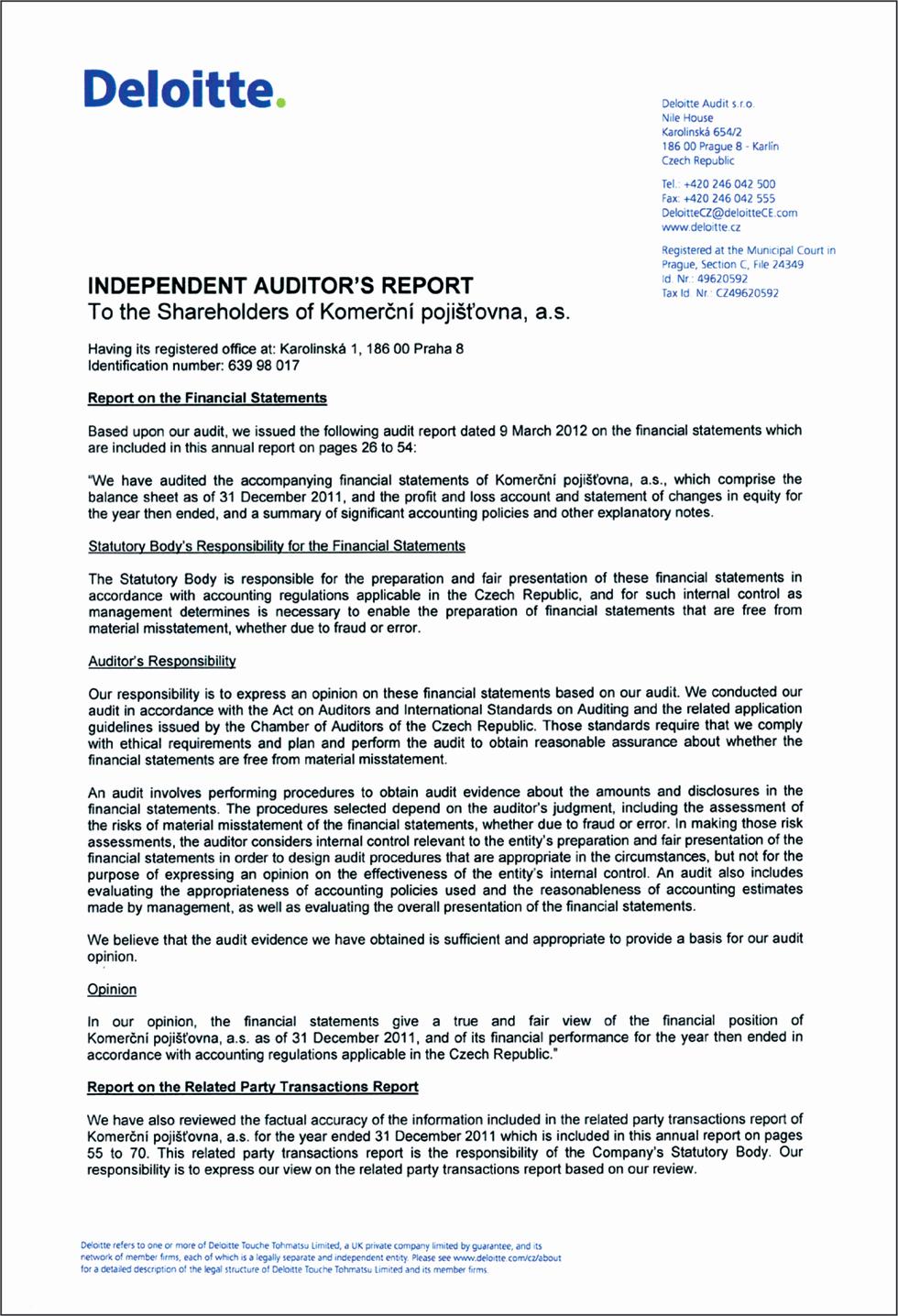 10 1 auditors report