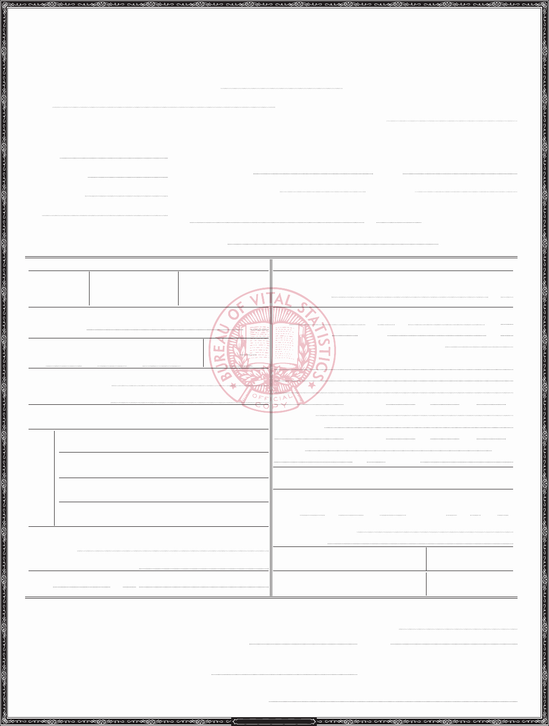 Sample Of Death Certificate Lovely Download Death Certificate Sample for Free