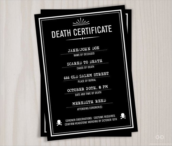 Sample Of Death Certificate Lovely Sample Death Certificate Template 7 Download Documents