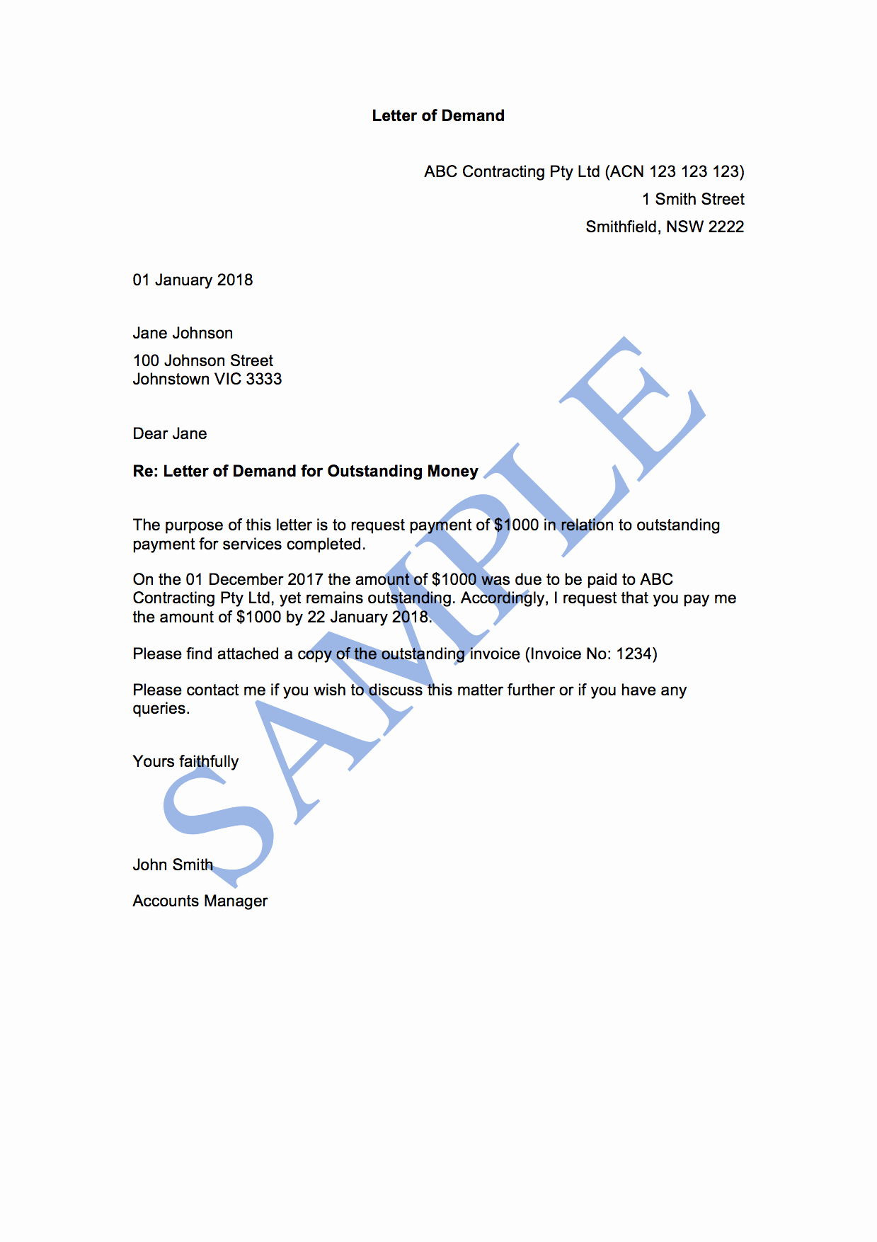 Sample Of Demand Letter Awesome Letter Of Demand 1st attempt Free Template