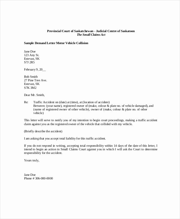 Sample Of Demand Letter Beautiful Demand Letter Sample 14 Pdf Word Download Documents