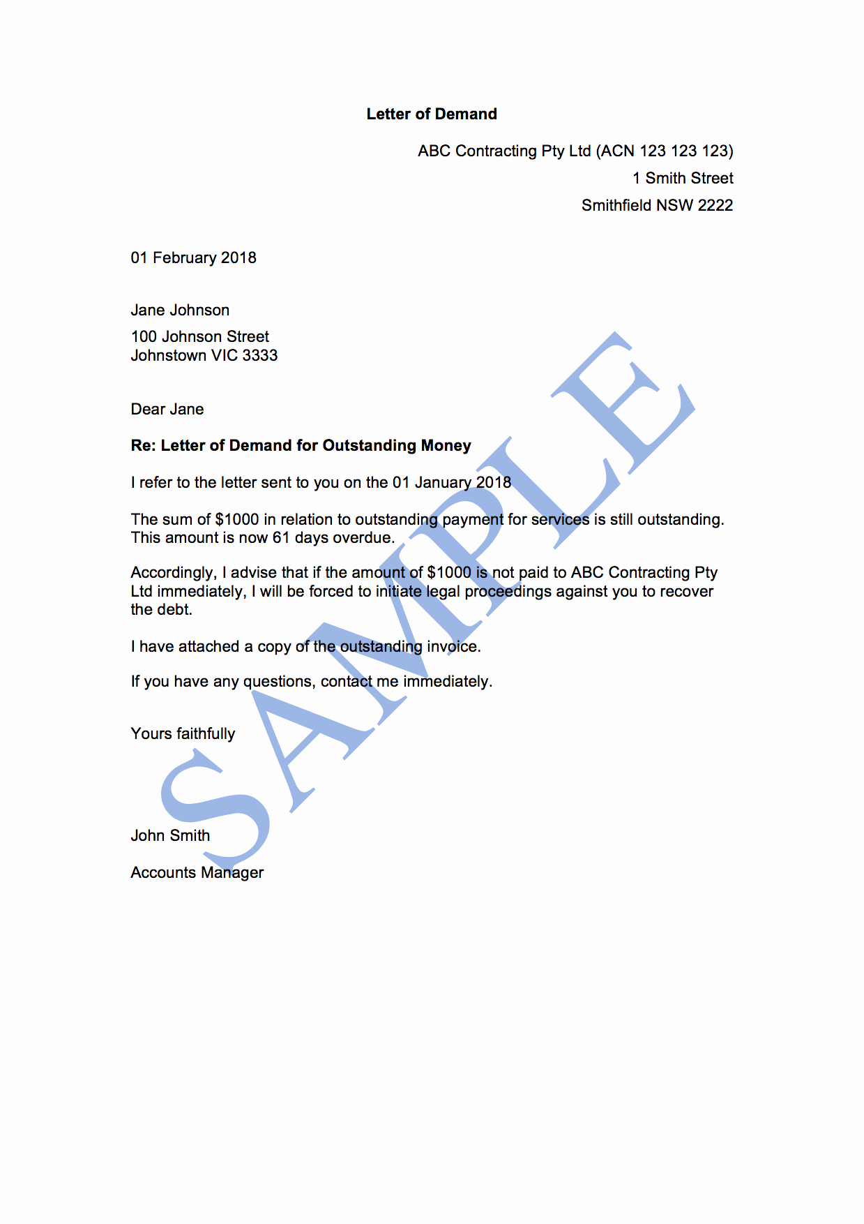 Sample Of Demand Letter Best Of Letter Of Demand 2nd attempt Free Template