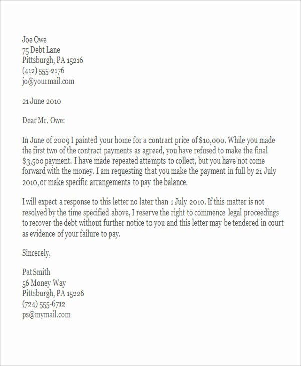 Sample Of Demand Letter Inspirational Free Demand Letters