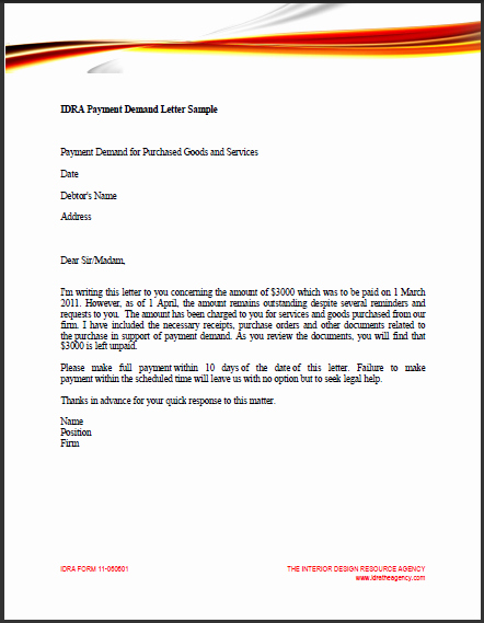 Sample Of Demand Letter Lovely Sample Business Letter Demand Payment
