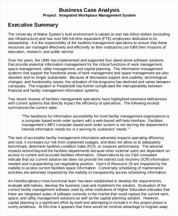 Sample Of Excutive Summary Inspirational 9 Executive Summary Examples Word Pdf