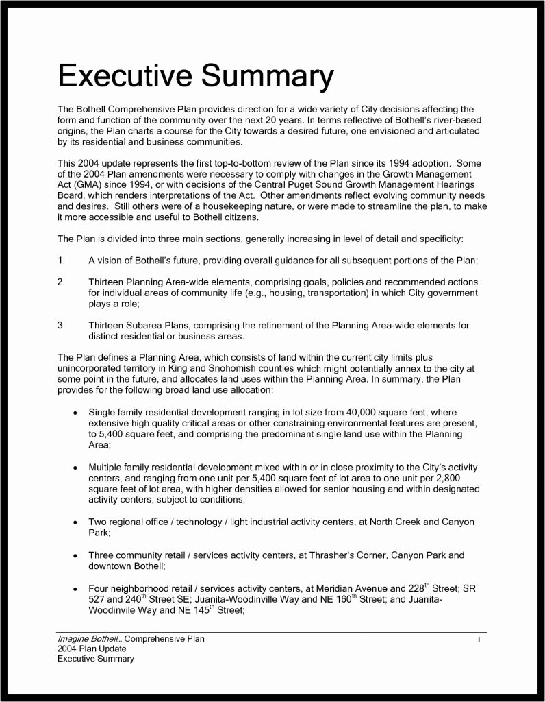 Sample Of Executive Summaries Best Of How to Write An Executive Summary Example for Report