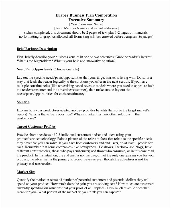 Sample Of Executive Summaries Lovely Sample Executive Summary 8 Examples In Pdf Word