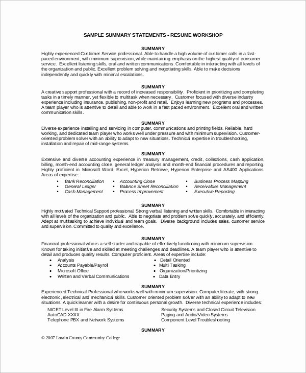 Sample Of Executive Summary Best Of Sample Executive Resume 10 Examples In Word Pdf