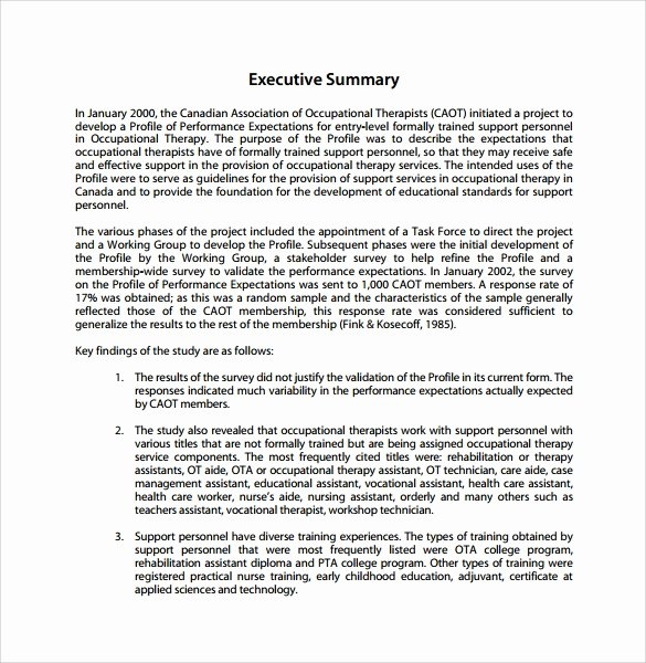 Sample Of Executive Summary Best Of Summary Report Template 10 Free Pdf Word Apple Pages