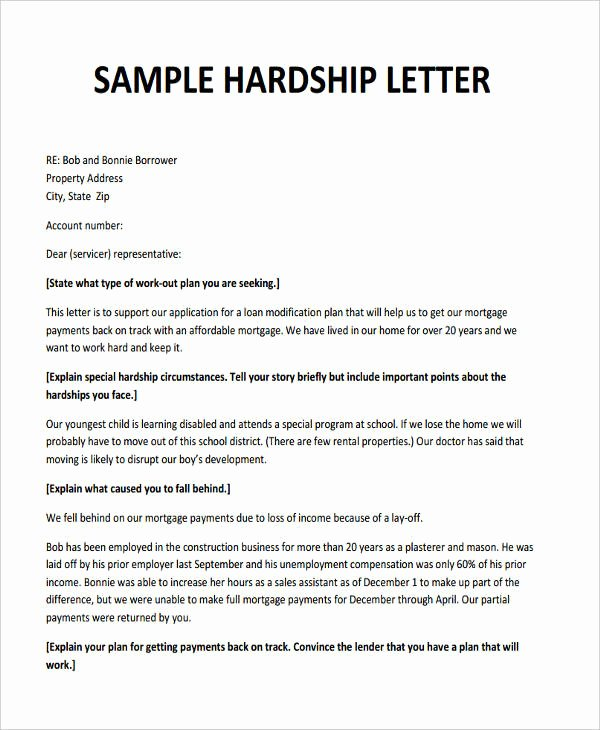 Sample Of Harship Letter Best Of 6 Hardship Letter Templates 6 Free Sample Example