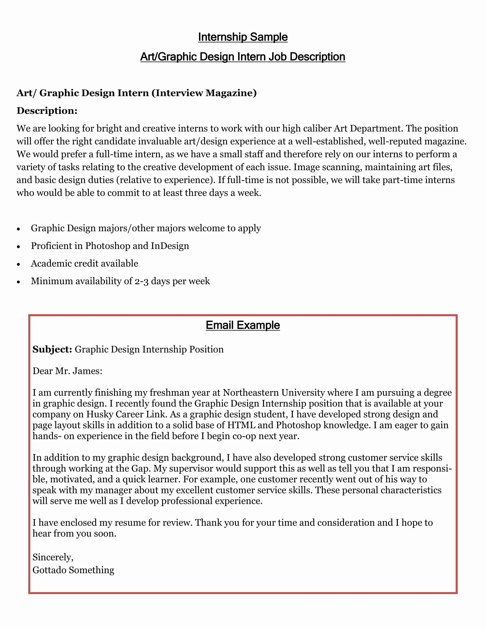 Sample Of Internship Cover Letter Beautiful 7 Example Of An Internship Letter