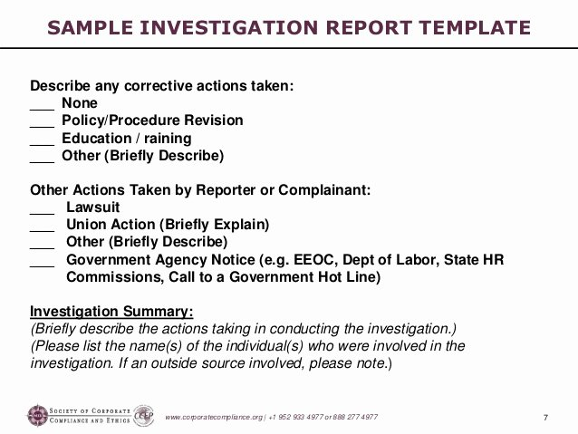 Sample Of Investigation Report Fresh [p14 A ] Investigations Workshop Part 5 Preparing the