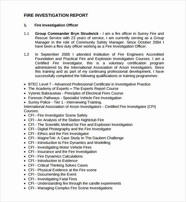 Sample Of Investigation Report Inspirational 16 Investigation Report Templates Google Docs Word Pdf