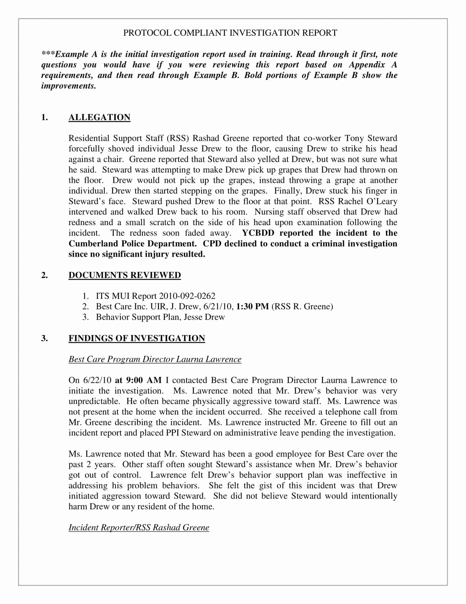 Sample Of Investigation Report Inspirational Human Resources Investigation Report Template