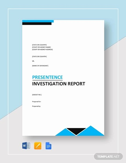 Sample Of Investigation Report Luxury Free 15 Investigation Report Samples & Examples In Pdf