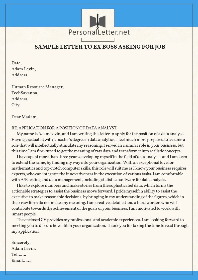 Sample Of Job Letter Beautiful Rehire Letter to Employer