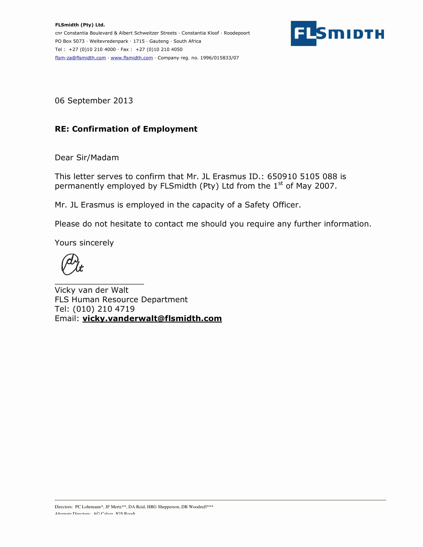 Sample Of Job Letter Best Of 14 Employment Verification Letter Examples Pdf Doc