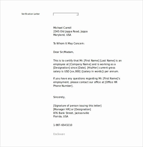 Sample Of Job Letter Unique An Employee Letter