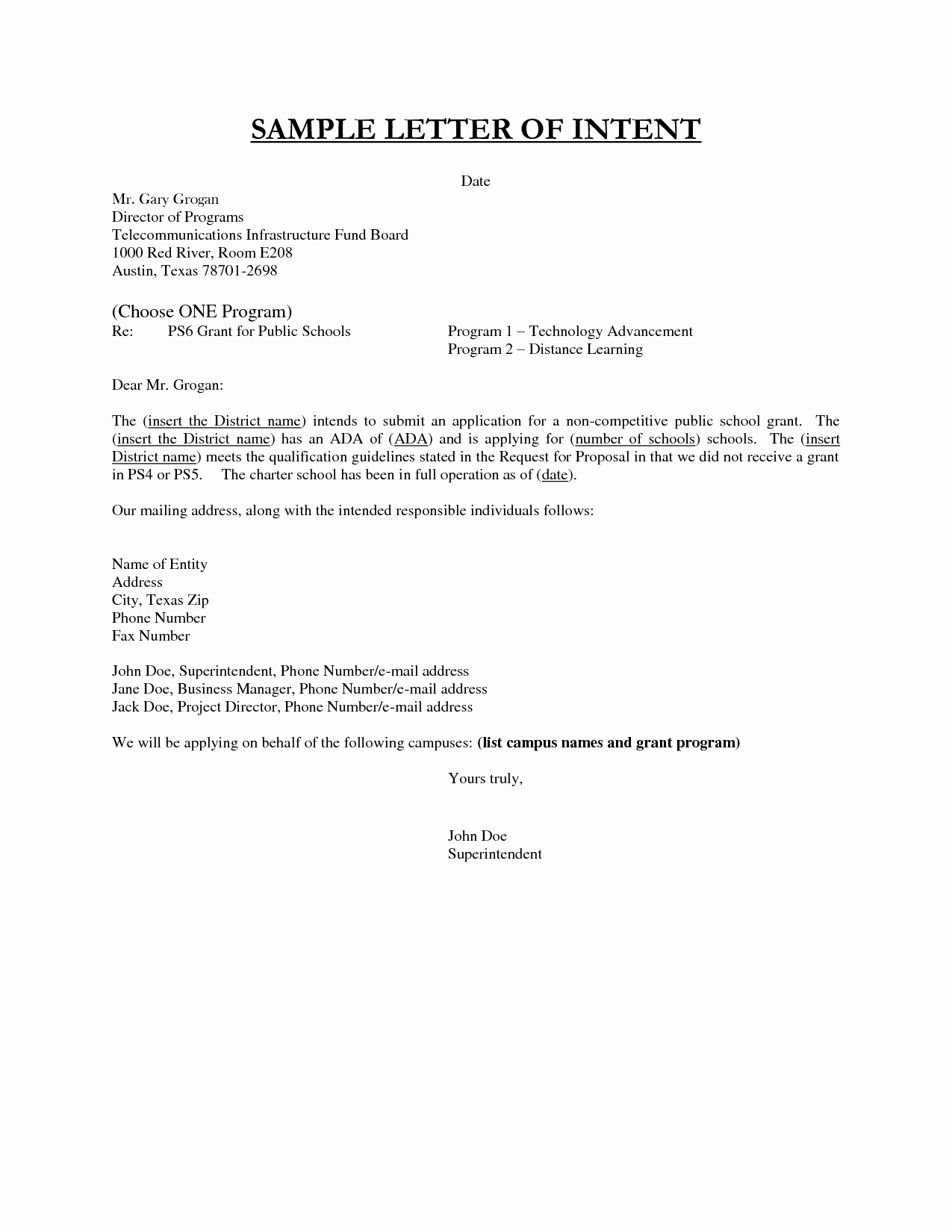 Sample Of Letter Of Intention Beautiful Best S Of Sample Letter Intent Employment Template