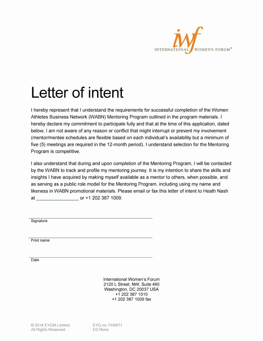 Sample Of Letter Of Intention Lovely 40 Letter Of Intent Templates & Samples [for Job School