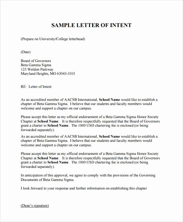 Sample Of Letter Of Intention Unique 10 Sample Letter Of Intent for University Pdf Doc