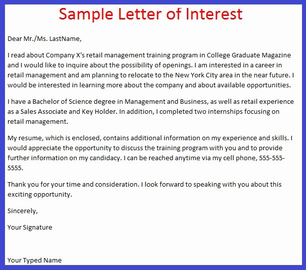 Sample Of Letter Of Interest Fresh Job Application Letter Example October 2012