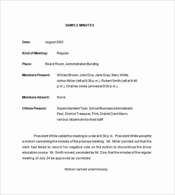 Sample Of Minutes Of Meeting Awesome 18 School Meeting Minutes Templates Word Pdf Apple
