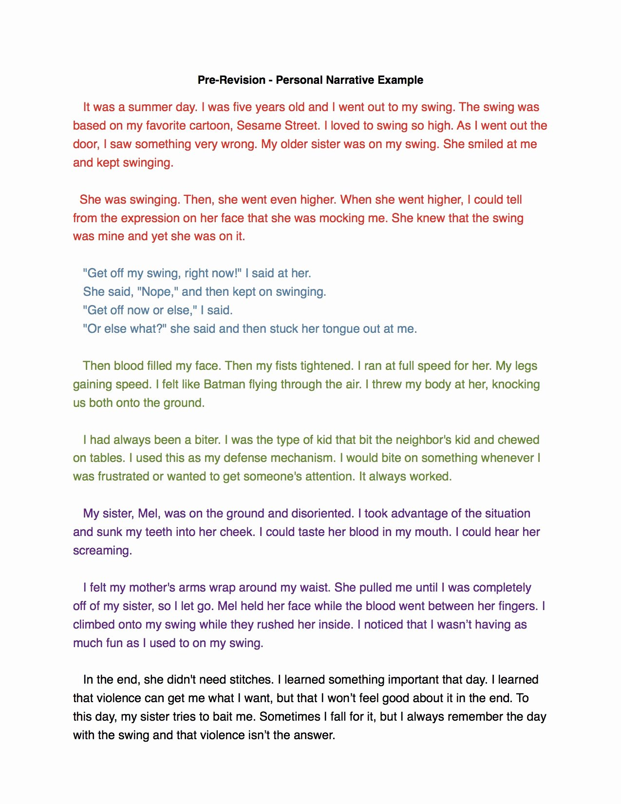 Sample Of Narrative Essay Best Of High Five for Friday 12 12 14