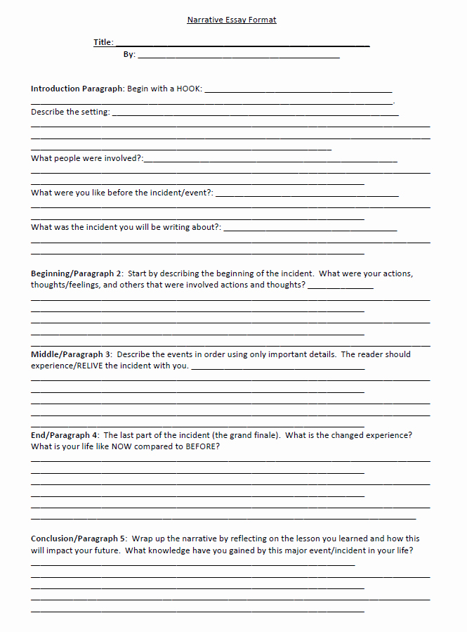 Sample Of Narrative Essay Fresh Narrative Essay Examples Outline format to Help Write A