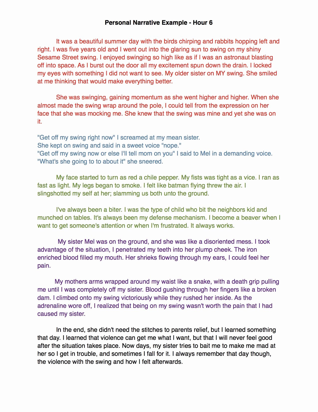 Sample Of Narrative Essay Lovely High Five for Friday 12 12 14