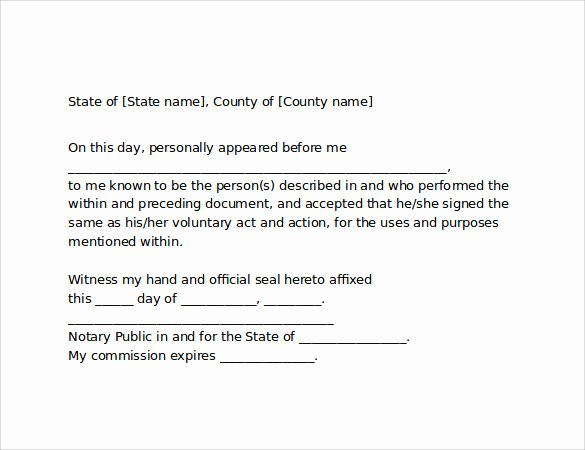 Sample Of Notarized Document Beautiful 10 Sample Notarized Letters Pdf Word