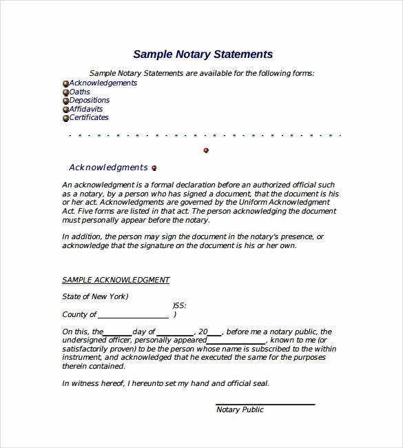 Sample Of Notarized Document Fresh How to Get A Letter Notarized 2018