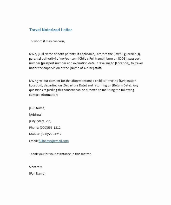 Sample Of Notarized Document Inspirational Free Notarized Letter Template Sample format Example