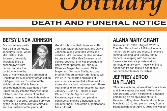 Sample Of Obituaries for Mother Awesome Sample Obituary formats